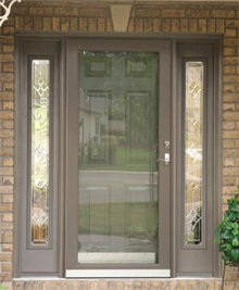 Replacement doors peter l brown company for Front entry doors with storm door